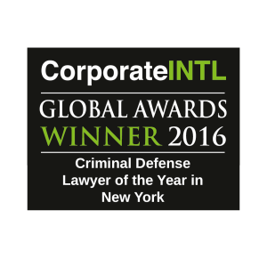 2016 Global Awards - Criminal Defense Lawyer of the Year in New York